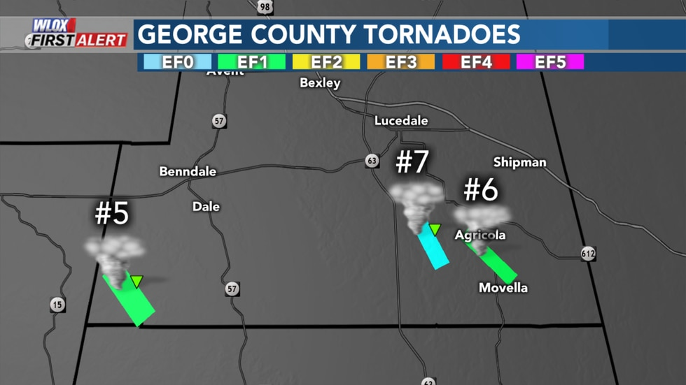 George County tornadoes from Wednesday June 24 2020