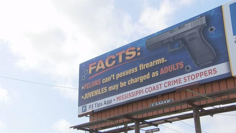 Gulfport community leaders gathers in front of Anti-Gun Violence Billboard