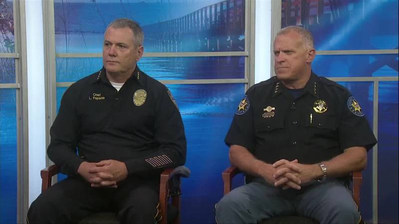 Gulfport Police Chief Leonard Papania and Harrison County Sheriff Troy Peterson stopped by the...