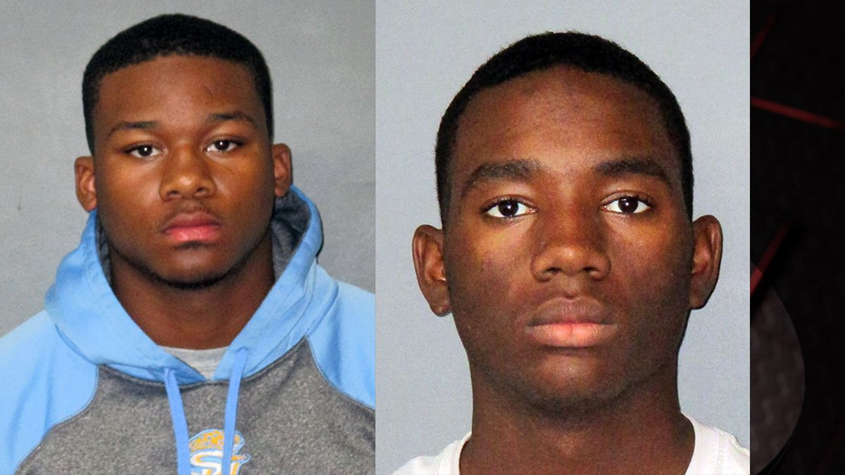 Bertrand Carrell, DOB: 12/26/1999 (left), is accused of raping a girl at a high school during...