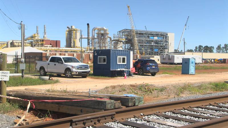 Enviva's Wood pellet manufacturing plant in Lucedale.
