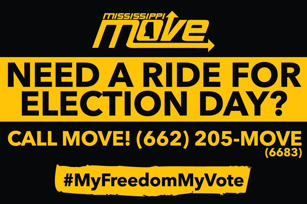 You can text or call Mississippi MOVE's dispatch line if you need a ride to the polls.