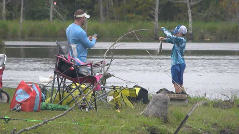 Saturday's cool weather made outdoor activities more pleasant, especially fishing.