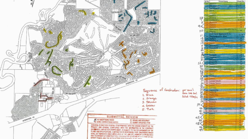 The City of Diamondhead released a map showing which roads will be paved, and the sequence of...