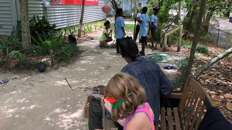 Art camp at WAMA has an environment theme for young students