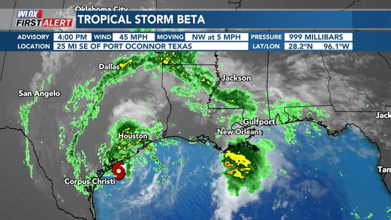 4 PM Tropical Storm Beta Update