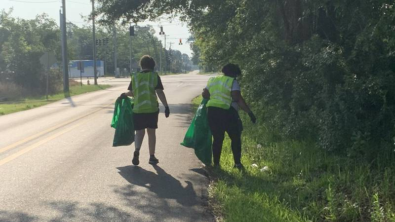 Groups gathered in five different locations for a community cleanup early Saturday morning....