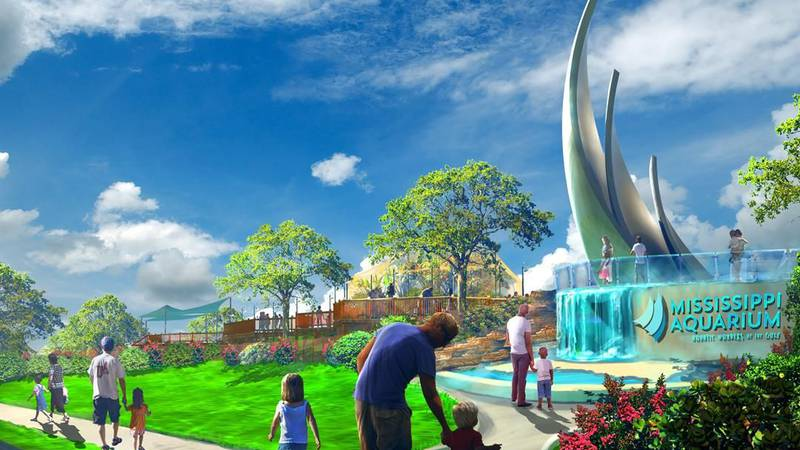 Designs for the Mississippi Aquarium offer an immersive experience for guests with acrylic...
