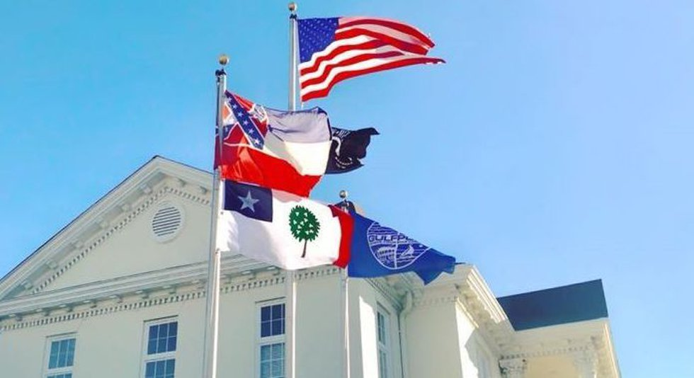 Gulfport has flown the Magnolia Flag alongside the Mississippi state flag since 2017.