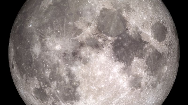 The near side of the Moon, as seen by the cameras aboard NASA's Lunar Reconnaissance Orbiter...