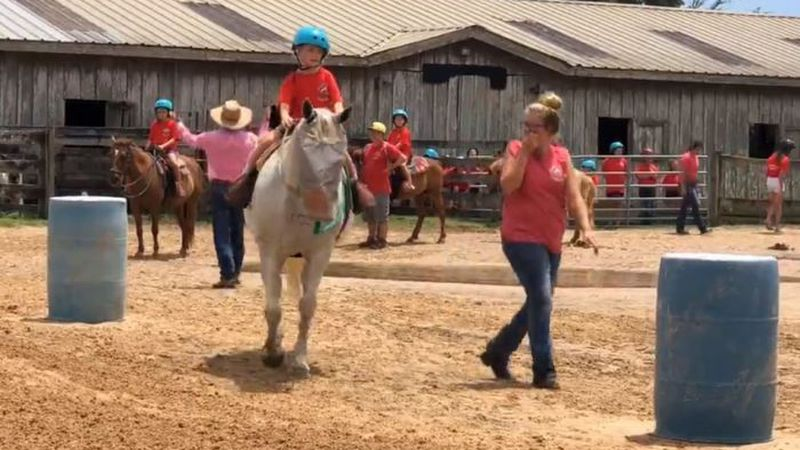 Most campers agreed their favorite part of Saturday's showcase was just getting to ride their...