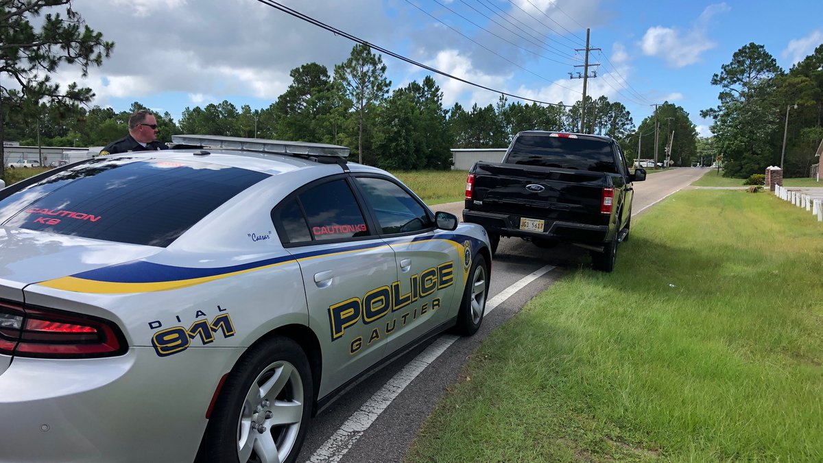 Gautier Police have blocked a portion of Dolphin Drive, south of Old Spanish Trail, while they...