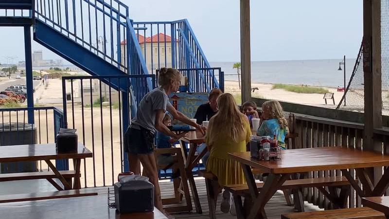 Restaurants like Snapper's in Biloxi are still seeing the usual weekend and holiday crowds, but...