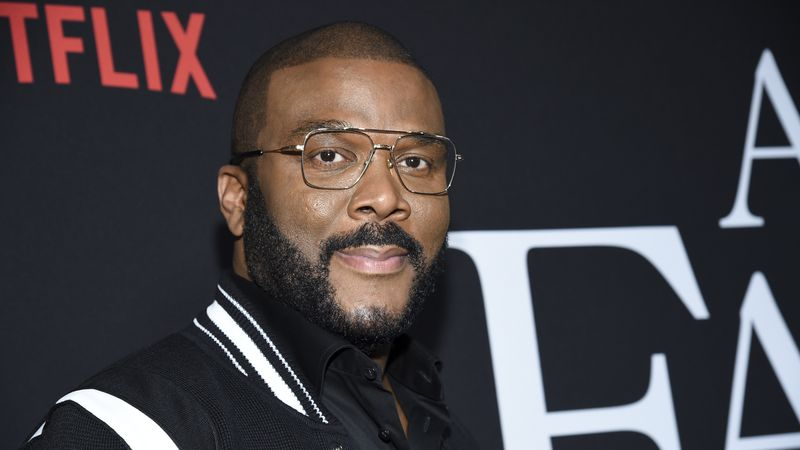 """Writer-director-actor Tyler Perry attends the premiere of Tyler Perry's """"A Fall from Grace"""" at..."""