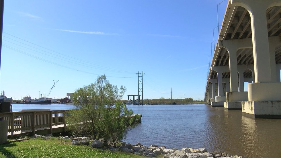 The Jackson County Historical Society are working to place a historical marker across the river...