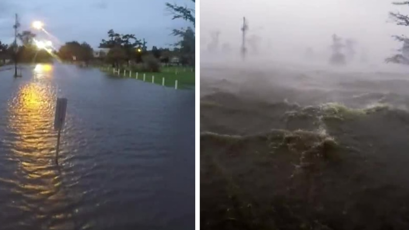 Incredible video shows massive storm surge into Frenier Landing in LaPlace