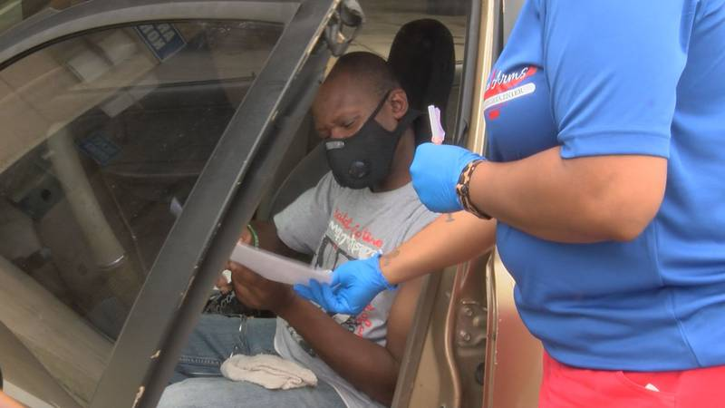 Biloxi resident Tracey Johnson came to the event after attending his vaccinated cousin's...