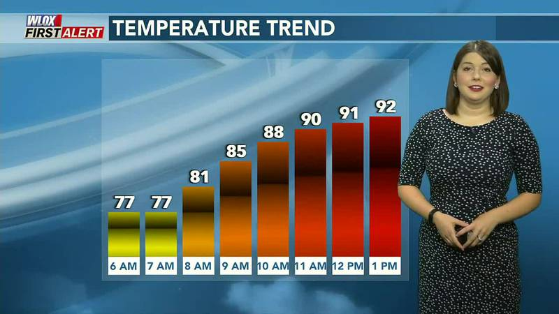 More heat and humidity today! Isolated showers possible.