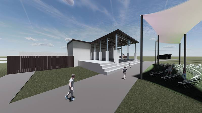 Gautier's future Town Center Amphitheater is designed to be an open park that will be open to...
