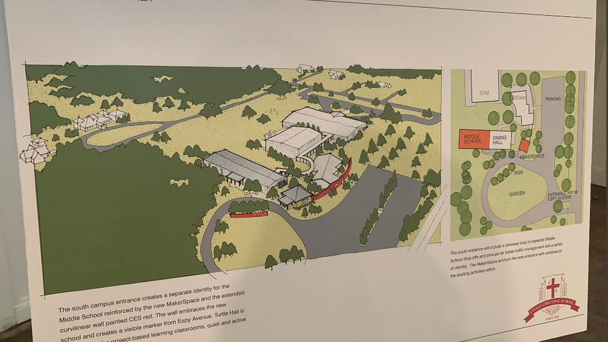 Coast Episcopal also announced plans to build new middle school and makerspace. (Photo Source:...