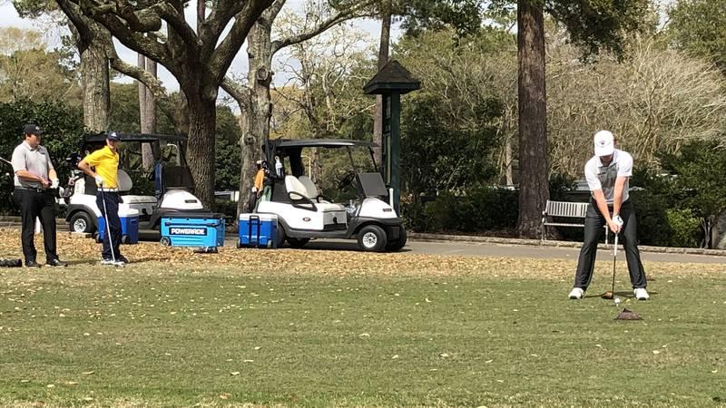 College golf teams compete on coast