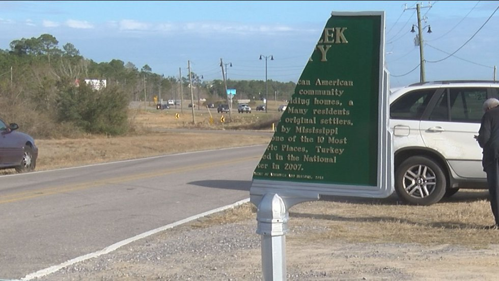 A historical marker celebrating the heritage of Gulfport's Turkey Creek community was...