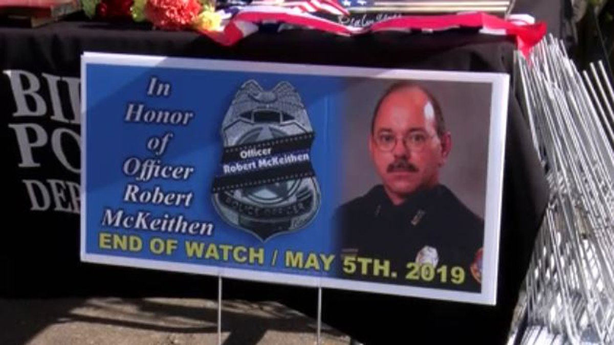 Law enforcement officers, community members, coworkers, and McKeithen's family gathered Tuesday...