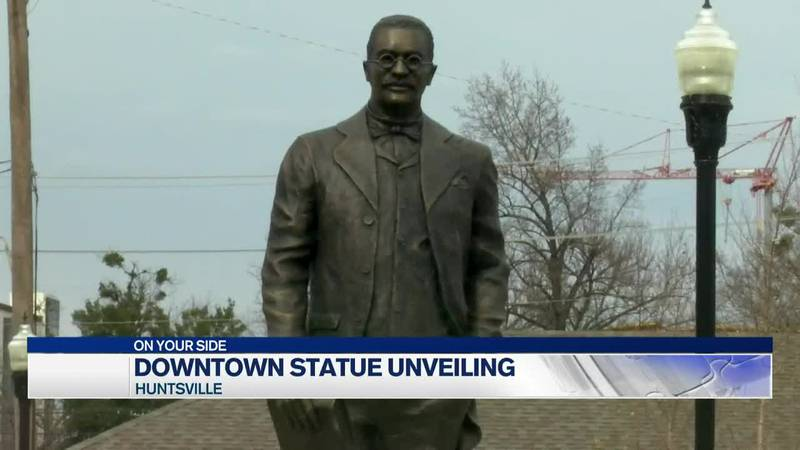 New statue revealed in downtown Huntsville