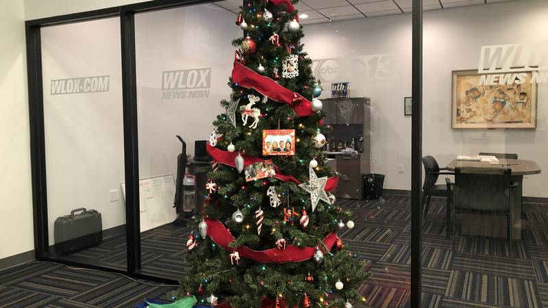 The WLOX News Christmas tree only has a few presents left underneath it.  Merry Christmas South...