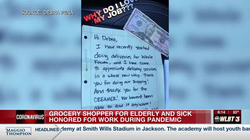 Grocery shopper honored for work to get food to most vulnerable during pandemic