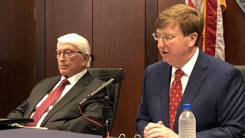 Burl Cain (L) and Tate Reeves (R)