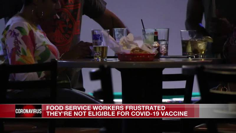 'We're... on the front lines every day': Restaurant workers frustrated by not being included...
